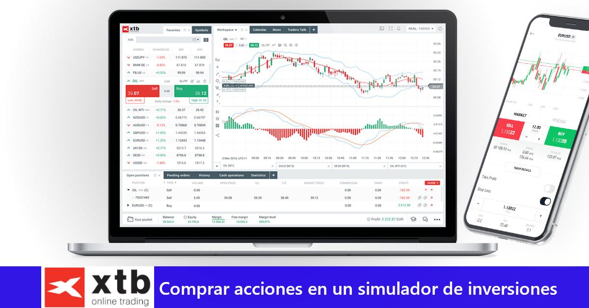XTB: Comprar acciones en un simulador de inversiones