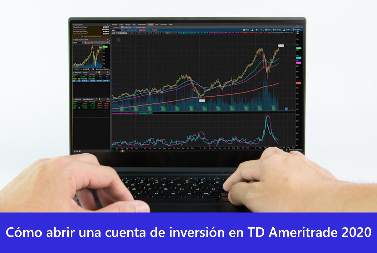 Cómo abrir una cuenta de inversión en TD Ameritrade 2020